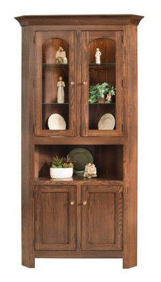 Amish Georgetown Corner Hutch Save space and enjoy storage with a solid wood corner hutch.  sc 1 st  Pinterest & Amish Farmhouse Pine Corner Hutch | Hutches | Pinterest | Corner ...