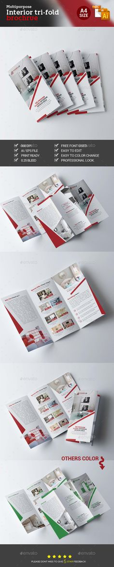 Interior Trifold Brochure Template Vector EPS, AI #design Download: http://graphicriver.net/item/interior-trifold-brochure/14067504?ref=ksioks