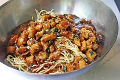 Deliciously spicy and sweet, this Kung Pao Chicken Spaghetti is a fan favorite and all time best seller from California Pizza Kitchen that you can make at home and with my adjustments enjoy it with about half the calories and ALL the taste!