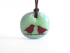 Love Birds Necklace / lovebirds jewelry / singing bird necklace / birds on a wire jewelry / gift for mom / gift for her / love birds jewelry Bird Jewelry, Animal Jewelry, Etsy Jewelry, Jewelry Gifts, Bee Necklace, Handmade Necklaces, Etsy Necklaces, Handmade Jewelry, Wire Pendant