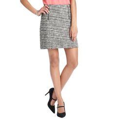 Nubby Tweed Zip Detail Skirt