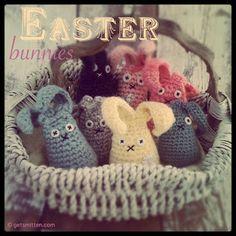 Get Smitten by Lisa Pocklington: *FREE* Crochet Easter Bunny Pattern