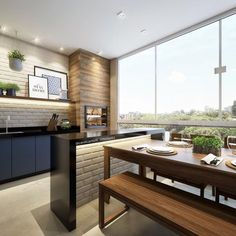 No photo description available. Kitchen Dinning Room, Dining Room Design, Kitchen Design, Kitchen Decor, Small Apartment Interior, Small Space Interior Design, Interior Design Living Room, Urban House, Sweet Home