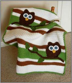 Owl Baby Blanket Crochet Pattern Free