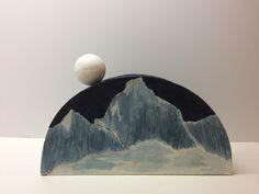 Moon Over Valbella (side B) (25cm L x 5cm W x 15cm H; mixed media, 2017)