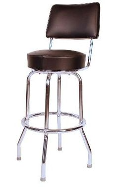 Seat Back One-Ring Bar Stool - Quick Ship Gift Guide The Seat Back One-Ring Bar Stool will ship out in 3 days! The Seat Back One-Ring Bar Stool has a 360 swivel, sparkling chrome finish, non-marker glides, and a deep foam padded seat. Give you bar or