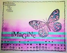 cbee's cards and more: Visible Image Wednesday - Imagine Wednesday, My Arts, Stripes, Stamp, Projects, Cards, Handmade, Image, Log Projects