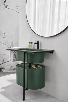 Mobile lavabo singolo con ante KYROS by Ceramica Cielo Bathroom Furniture, Bathroom Interior, Modern Bathroom, Small Bathroom, Mosaic Bathroom, Gold Bathroom, Master Bathroom, Bathroom Ideas, Bad Inspiration