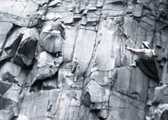 Lucy Smith and Pauline Ranken on the Salisbury Crags (Edinburgh) in 1908 apparently.