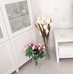 Beyaz, Çiçekler, Salon