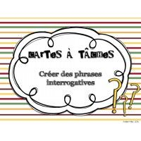 Cartes à tâches - Phrases interrogatives Phrase Interrogative, Task Cards, Mathematics, Spelling, Phrases, Teaching, Personalized Items, This Or That Questions, School
