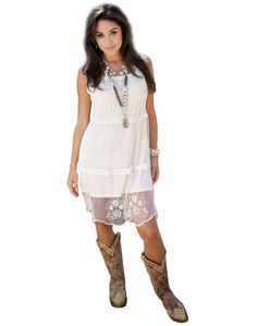 Dresses with cowboy boots, Cowboy boots and Cream lace dresses on ...