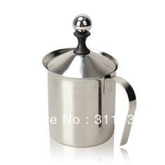 800mL Stainless Steel Double Mesh Milk Frother Cappuccino Milk Creamer Milk Foam
