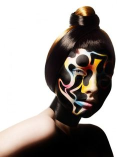 """""""A unique collaboration between #Rankin and visionary makeup artist, #AlexBox."""