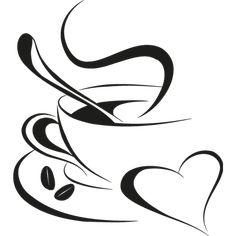 Vinilo para cafetería con dibujo taza café