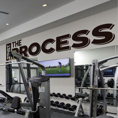 Trust The Process, Gym Decor, Motivation Quote, Physical Therapist, Office Design, Gym Design Ideas, Gym Wall Ideas, Office Wall Decal, Gift Office Wall Decals, Office Walls, Therapist Office, Physical Therapist, Gym Design, Design Ideas, Gym Decor, Trust The Process, New Wall
