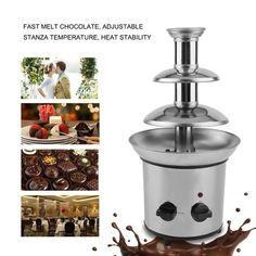 3 Tiers Stainless Steel Event Chocolate Fondue Waterfall Fountain Machine #westernweddings