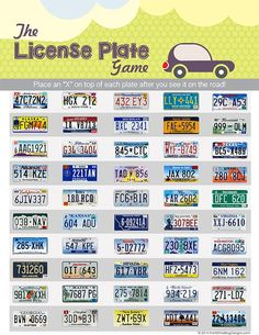 Planning a road trip? Don't leave home without this free printable License Plate Game for Kids!