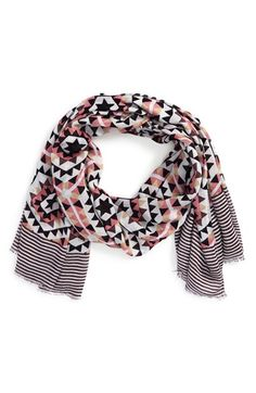 Sole Society 'Mixed Tile' Geo Print Scarf