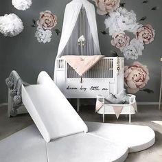 Nursery Ideas, Nursery Inspiration and Nursery Design Tips and Nursery Tours Baby Bedroom, Baby Room Decor, Nursery Room, Girl Nursery, Girl Room, Girls Bedroom, Nursery Decor, Nursery Ideas, Ikea Nursery