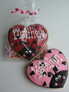 Valentine Lovebugs by East Coast Cookies, via Flickr