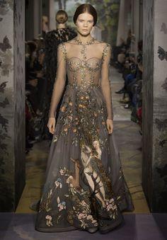 Plays With Needles: Les Papillons de Paris -- Valentino Garden of Eden dress