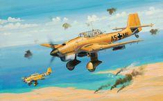 Junkers Ju-87B Stuka, sobre el Norte de África. Más en www.elgrancapitan.org/foro/