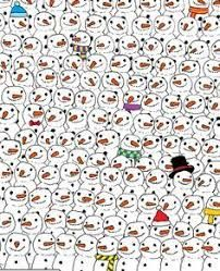 Can you spot the panda?Scroll down to see where the panda is hidden.You've got to find a panda hidden among hundreds of cute snowmen.The puzzle has
