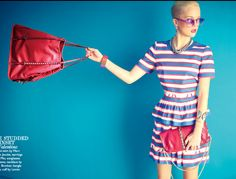 Net-a-porter bright blue vs red Net A Porter, Studded Bag, World Of Fashion, Valentino, Advertising, Short Sleeve Dresses, The Incredibles, Lady, Magazine Spreads