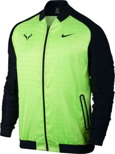 outlet store 98405 b52a0 Nike Green Colorblocked Mens Size Small S Rafa Nadal Tennis Jacket