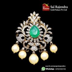 Elegant Diamond Pendant For order n sales,pls reach us on 9703193110 18k Gold Jewelry, Sapphire Jewelry, Beaded Jewelry, Diamond Jewelry, Tikka Jewelry, Indian Jewelry, Gold Necklace Simple, Pearl And Diamond Necklace, Diamond Pendant