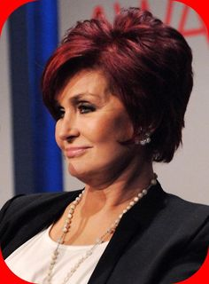 The Short Red Brown Sharon Osbourne Hairstyles : Sharon Osbourne Hairstyles Side View