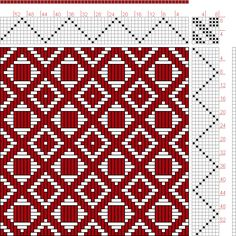 Hand Weaving Draft: Feb 1952 No. 17, Master Weaver, 8S, 8T - Handweaving.net…