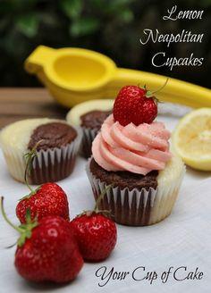 Lemon Neapolitan Cupcakes - Your Cup of Cake