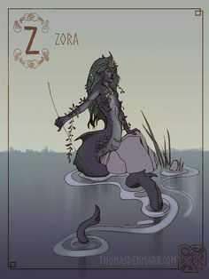 Zora (Sjora) - the Sjöfru (Mistress of the Lake) was a mythical creature of the lake, or Rå, in Swedish folklore. It was a humanoid water spirit, comparable to the nymphs of Greek mythology Mythological Creatures, Fantasy Creatures, Mythical Creatures, Arte Viking, Viking Art, Viking Woman, Arte Obscura, Poses References, Norse Vikings
