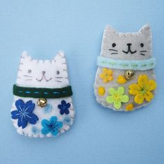 Handmade Felt Magnets - Maneki Neko