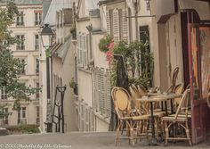 Paris Photography, Paris Print, Paris Decor, Parisian cafe; Montmartre (landscape)