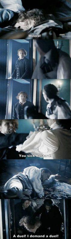 """""""A duel! I demand a duel!"""" - Jamie, Fergus and Black Jack #Outlander"""