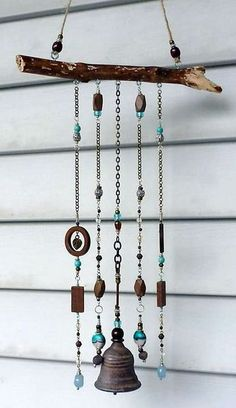 Wooden Wind Chimes, Diy Wind Chimes, Glass Wind Chimes, Sand Crafts, Driftwood Crafts, Wire Crafts, Mobiles, Wood Gifts, Wooden Diy