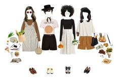 """""""At The Market"""" by silentmoonchild ❤ liked on Polyvore featuring Toast, Protagonist, Tomas Maier, River Island, The Row, Pier 1 Imports, Chloé, H&M, Indigo&Lavender and Illesteva"""