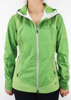 "Columbia Sportswear Women`s ""Mountain Mix Shell"" Green Waterproof Rain Jacket $84.97"