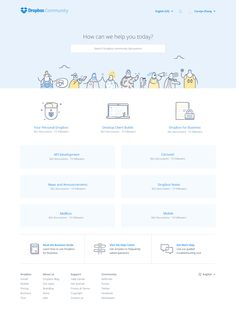 Dropbox Community by Ueno. A case study. Web Design Quotes, Web Ui Design, Web Design Trends, Page Design, Design Design, Portal, Web Layout, Layout Design, Website Illustration