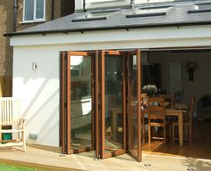 Sky windows and door to the garden.  http://www.barnes-design.com/images/residential/kirkstall-gardens.jpg