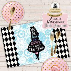Alice in Wonderland Placemat  Alice in Wonderland por LythiumArt