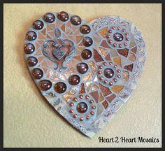 Mixed Media Friendship Heart Mosaic by Heart2HeartMosaics on Etsy