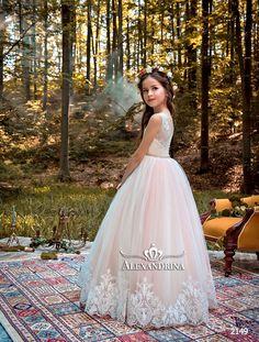Dragon Honor Baby Girls Long Sleeve Flower Girls Sparkling Prom Wedding Party Birthday Dresses