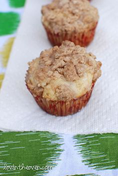 Coffee cake muffins.  Looks easy enough for breakfast.