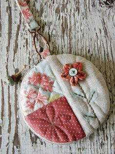 Flower Pouch 1 by PatchworkPottery, via Flickr