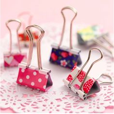 Hot  sale !! small  Korea stationery wholesale AIHAO printing binder clip / fresh and lovely filing clips free shipping