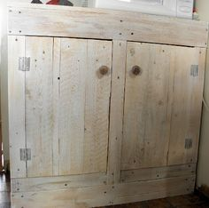 $10 DIY Pallet Cabinet  Kitchen, Bathroom, crafts, etc.